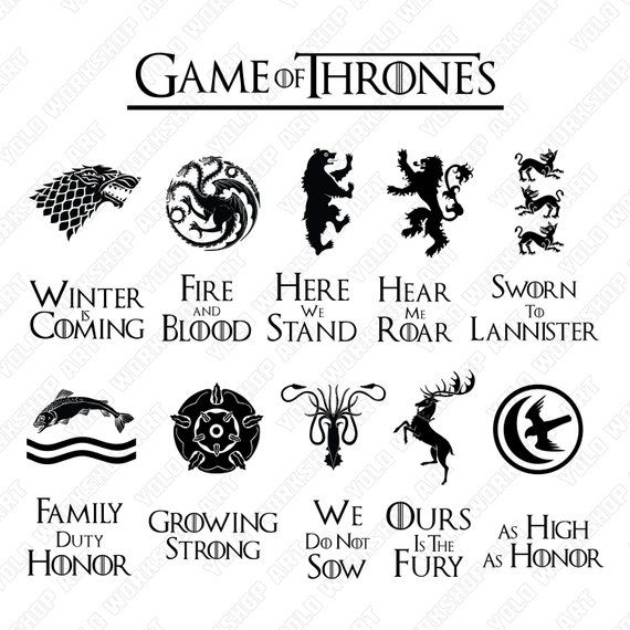Game of Thrones Svg, Eps, Jpg , Png, Clipart, Printable