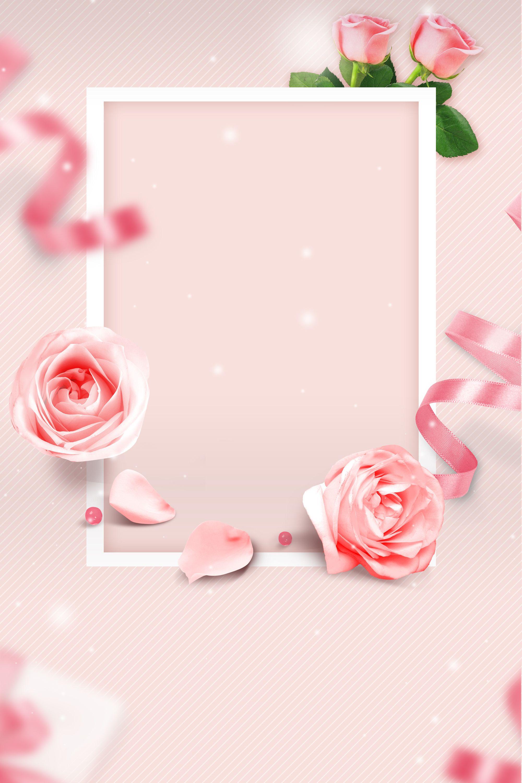 Fresh Pink Rose Valentine S Day Background Happy Rose Day Free