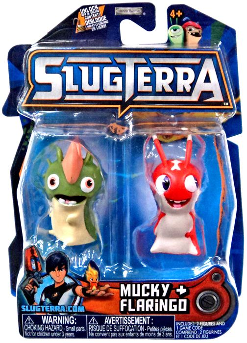 slugterra series 3 mucky amp flaringo mini figure 2pack