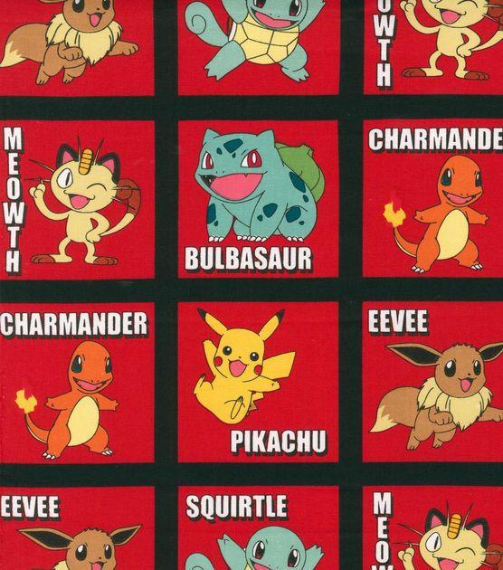 Pokemon Block Red Cotton Fabric Joann Fabrics Pokemon Party