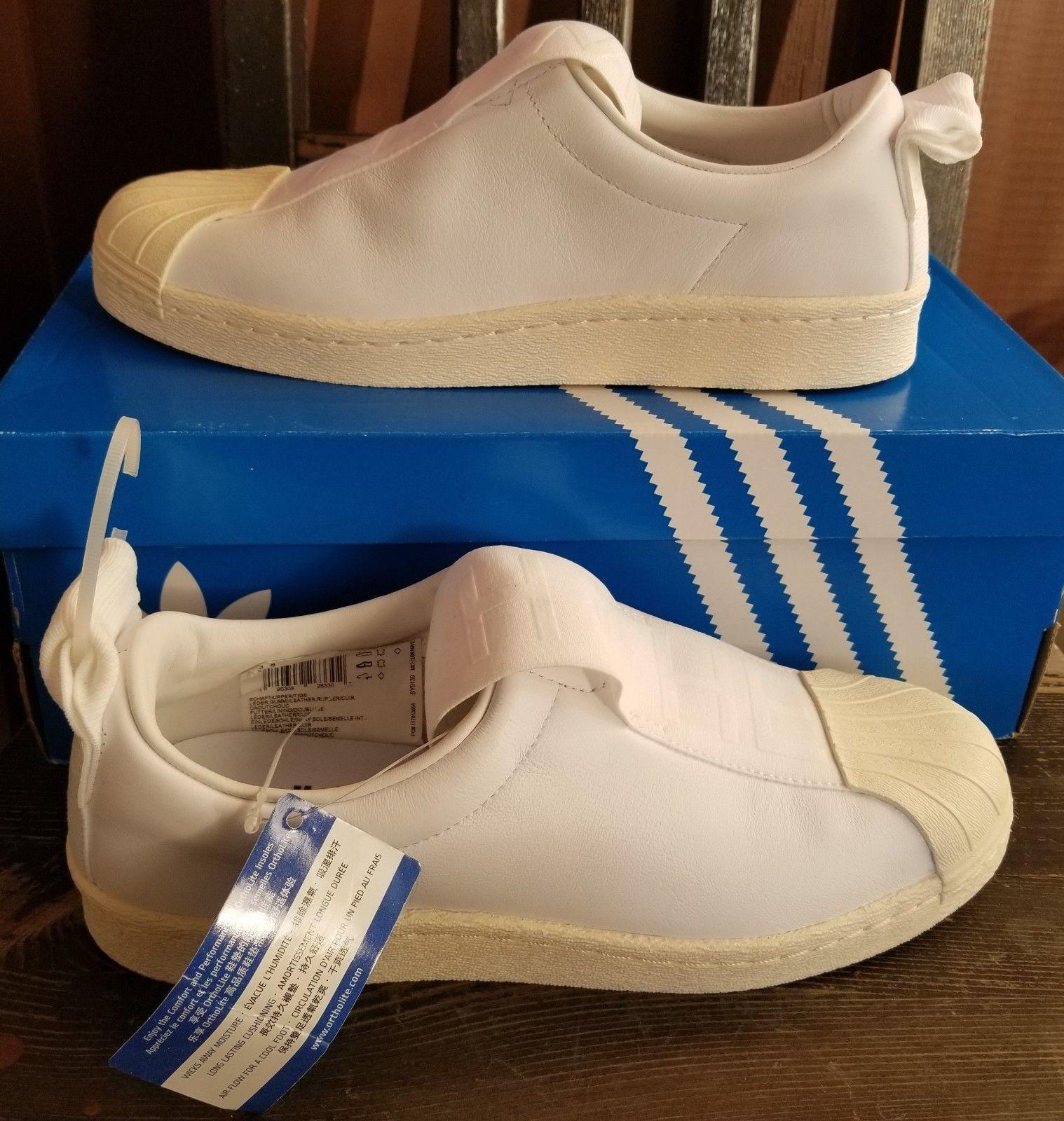 ejemplo Oscuro juntos  NEW AUTHENTIC ADIDAS ORIGINALS WOMEN'S SUPERSTAR BW3S SLIP-ON SHOES US 8  190309263302 | eBay | Adidas originals women, Slip on shoes, Adidas  originals