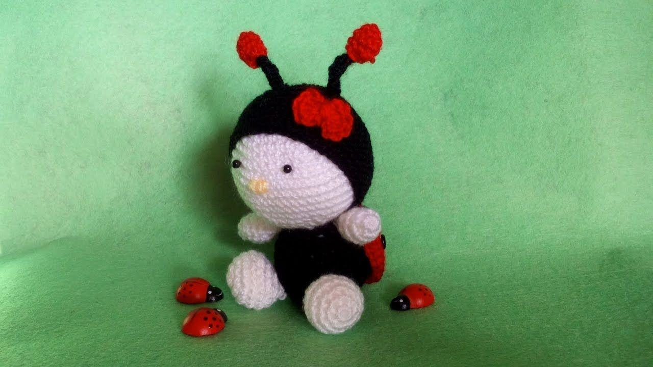 Coccinella Uncinetto -Amigurumi Tutorial Ladybug Crochet -Mariquita ...
