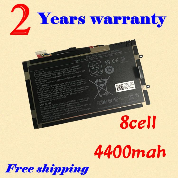 JIGU NEW Laptop battery 08P6X6 8P6X6 P06T T7YJR PT6V8 For