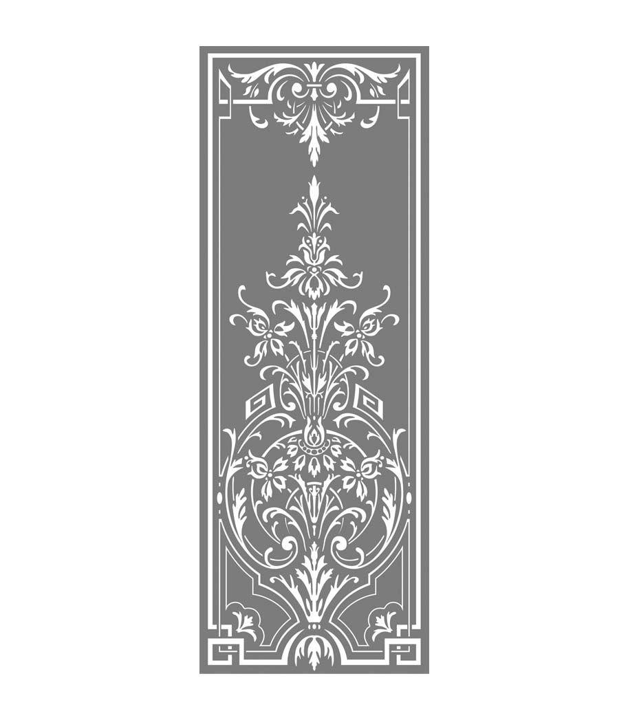 Glasdekor Barock Sichtschutz Atzglas Musselinglas Effekt Selbstklebend Barock Schablone Fur Wand Schablone Designs