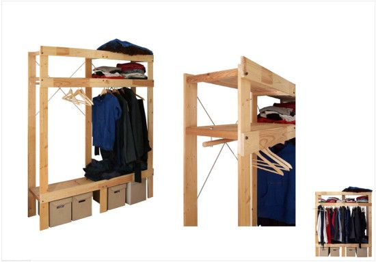 ikea ideas hacks for attic bedroom - IKEA Hack Turn IVAR shelving unit into wardrobe Need