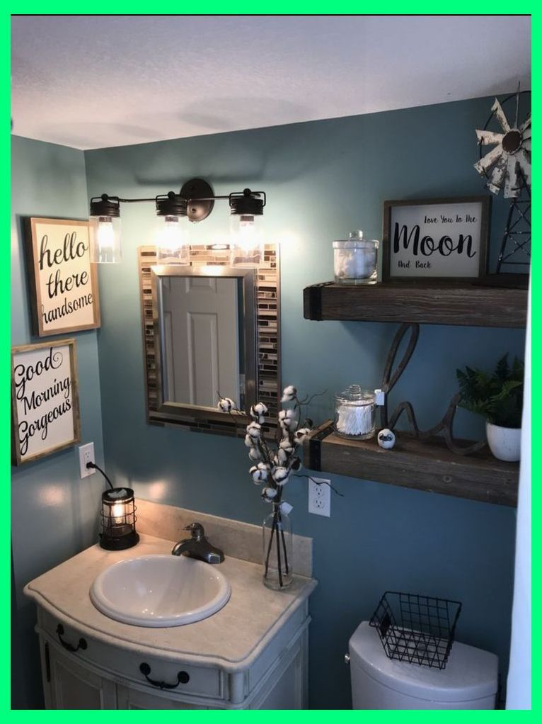 Farmhouse Bathroom Bathroom Decor Blue Decor For Bathroom