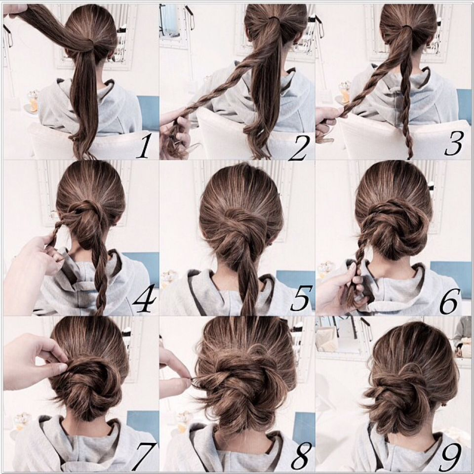 An easy and quick way to pull your hair back without being a boring ...