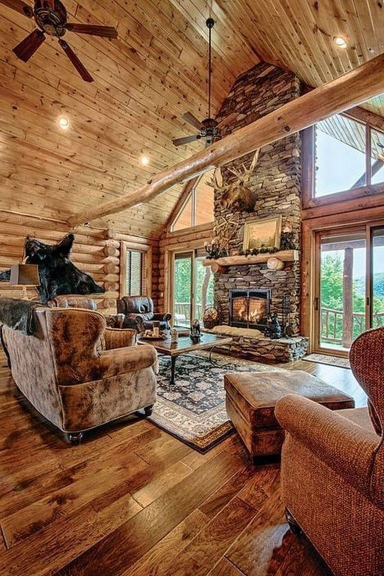 30 Luxury Home Interior Designs With Best Wooden Floor Log Home