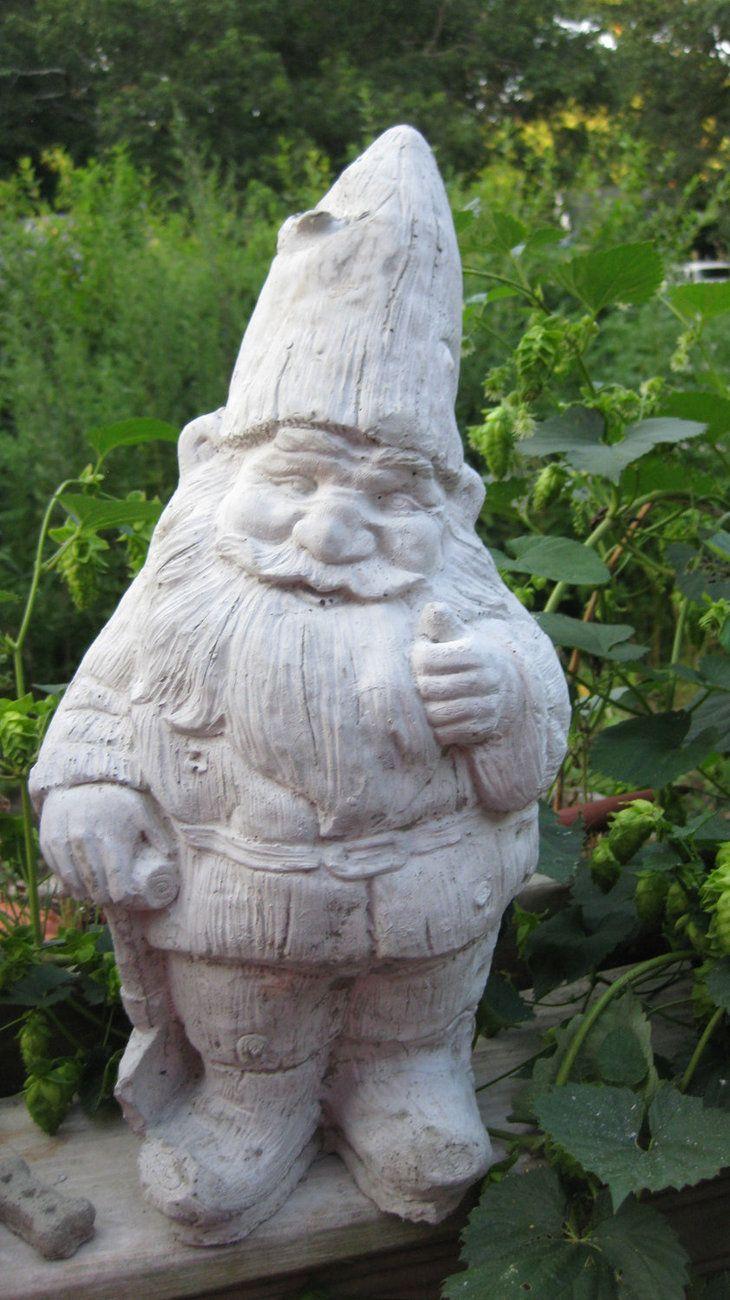 Cast Stone Concrete Cement Garden Gnome Outdoor Garden  Statue