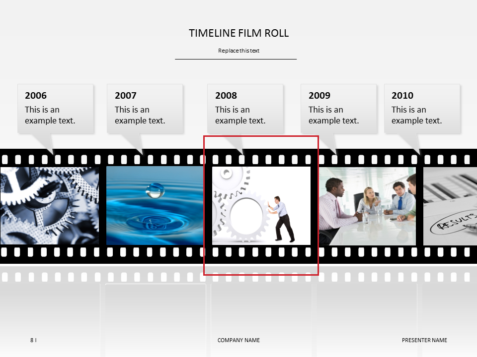 timeline film roll powerpoint template timeline film roll powerpoint