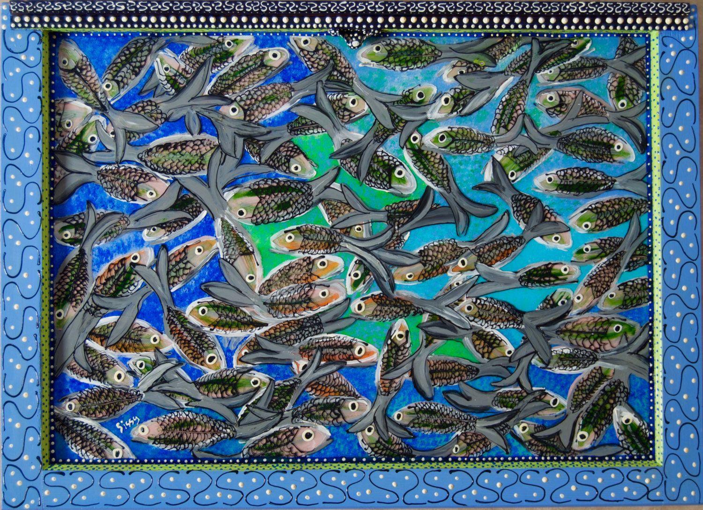 New to SissysFolkArt on Etsy: Fish Market Anchovies (1700.00 USD)