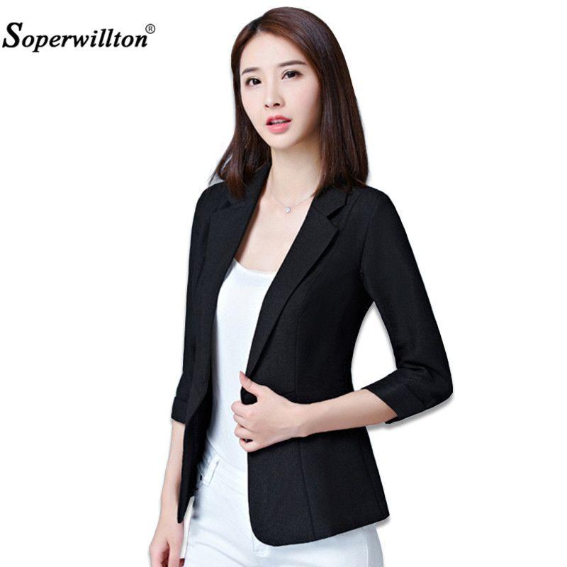 Soperwillton Blazer Feminino Plus Size 5XL Formal Autumn