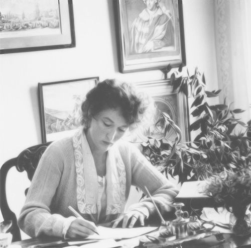Out of Africa -- Karen at her desk