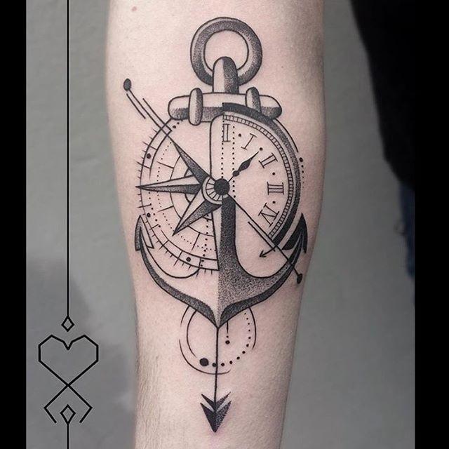 Resultado De Imagen De Ideas Sobre Ancla Y Reloj Tattoo Tatuajes