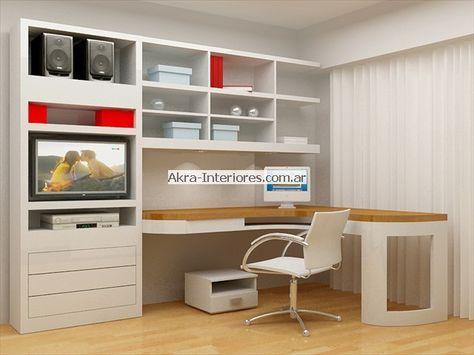 Mueble biblioteca con escritorio buscar con google for Planos de escritorios