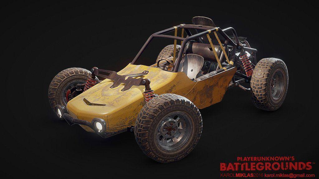 3D Model: Playerunknown's Battlegrounds: Buggy By KMiklas