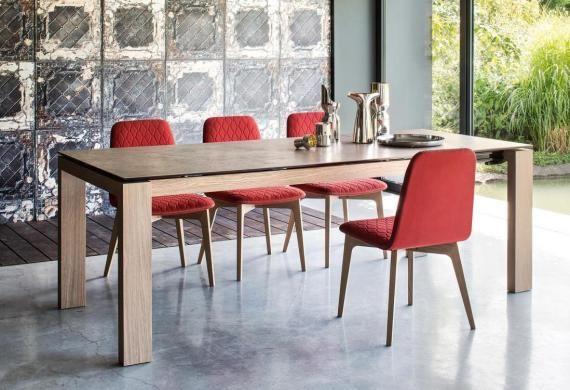 Sedie Rosse Calligaris : Sedia in legno imbottita sami by calligaris tavoli e sedie nel