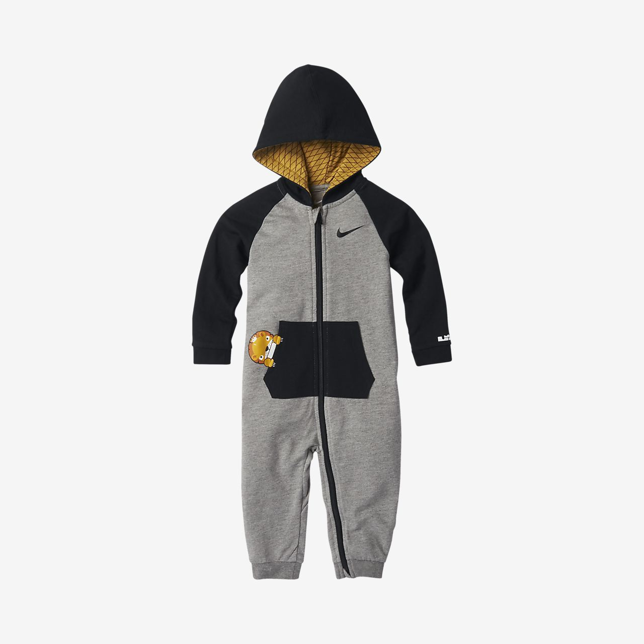 cb3abbd01fa7 LeBron Little Big Cats Infant Toddler Hooded Coverall