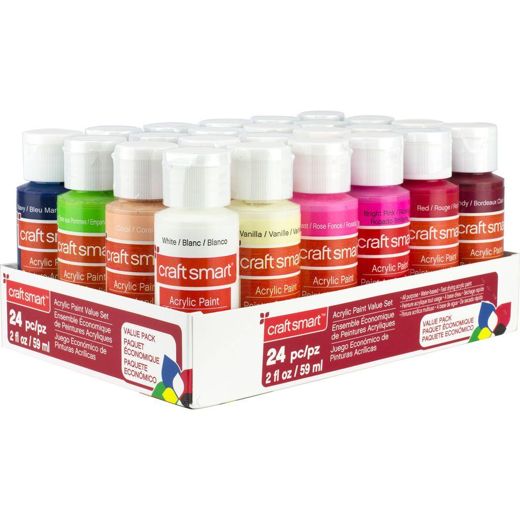 Acrylic paint 24 piece set by craft smart acrylic