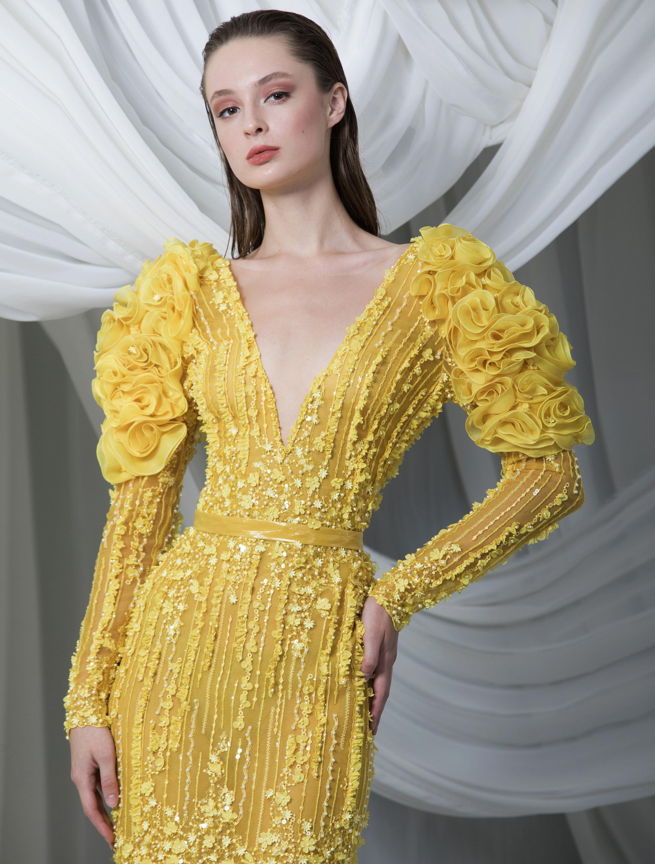 Rtw Spring Summer 2021 Designer Party Wear Dresses Dazzling Dress Unique Dresses [ 3012 x 2285 Pixel ]