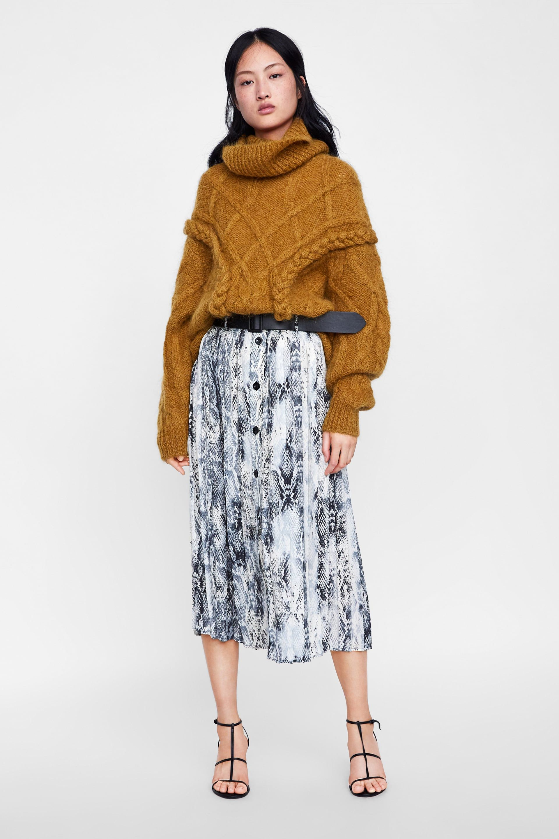 7c4a01c10 Image 1 of BELTED SNAKESKIN PRINT SKIRT from Zara | Style and outfit ...