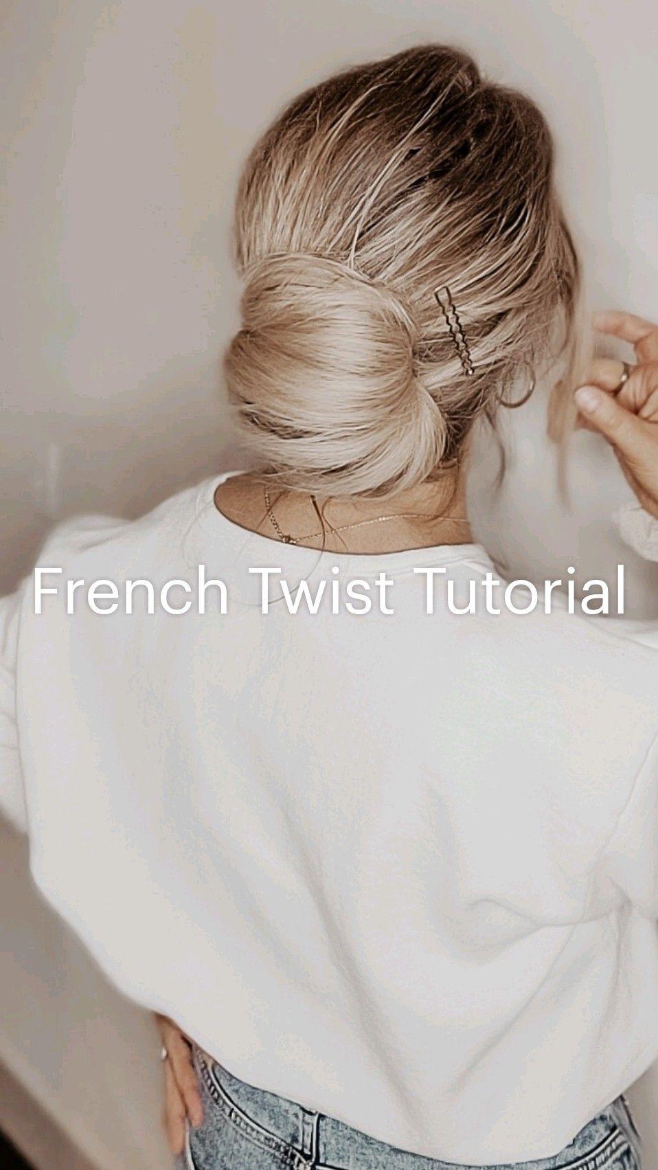 French Twist Tutorial