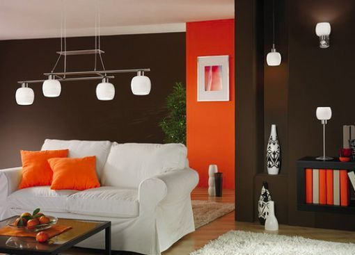 Decoracion interiores casas naranja decoraci casa for Decoracion de casas living