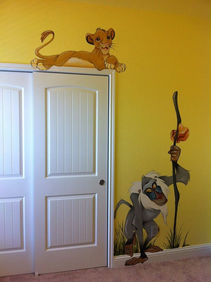Baby Boy Room Mural Ideas: Lion King Room, Lion King Nursery, Lion