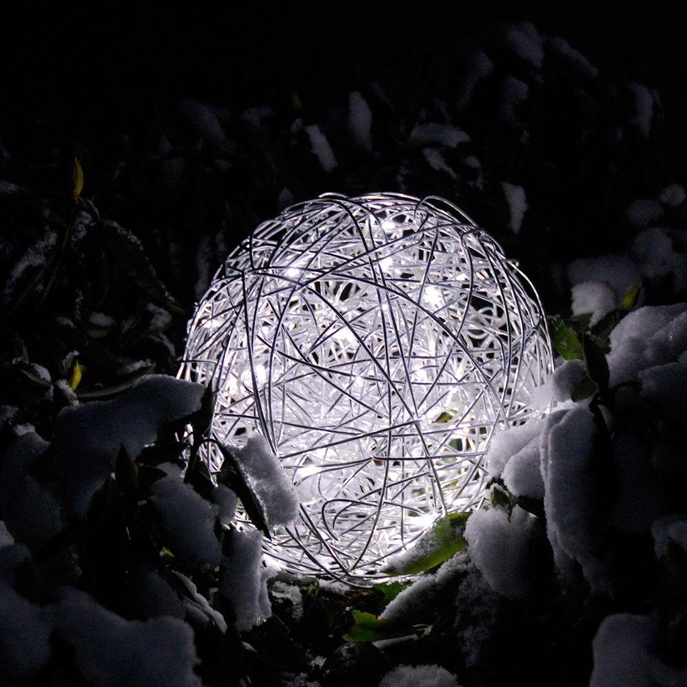 s.LUCE Mesh S LED Drahtkugel Ø 30cm Innen & Aussen Warmweiß