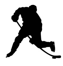 Image Result For Black Silhouette Hockey Player Silhouette Clip Art Silhouette Hockey Tattoo