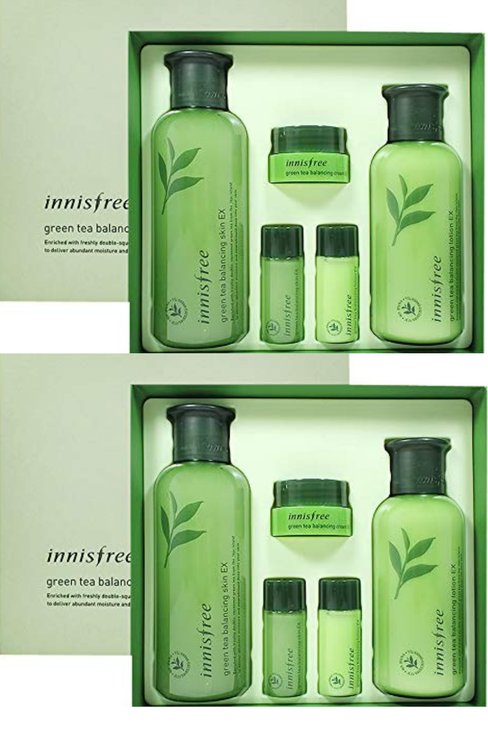 Innisfree Green Tea Balancing Skin Care Set Skincare Set Green Tea Skin Care Face Products Skincare