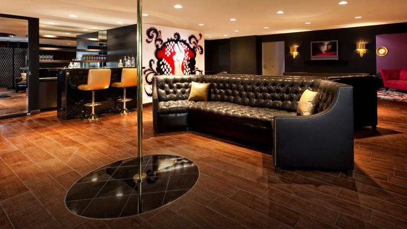 Masculine Hotel Suite The Stripper Pole In Bachelor Pad At Hard Rock