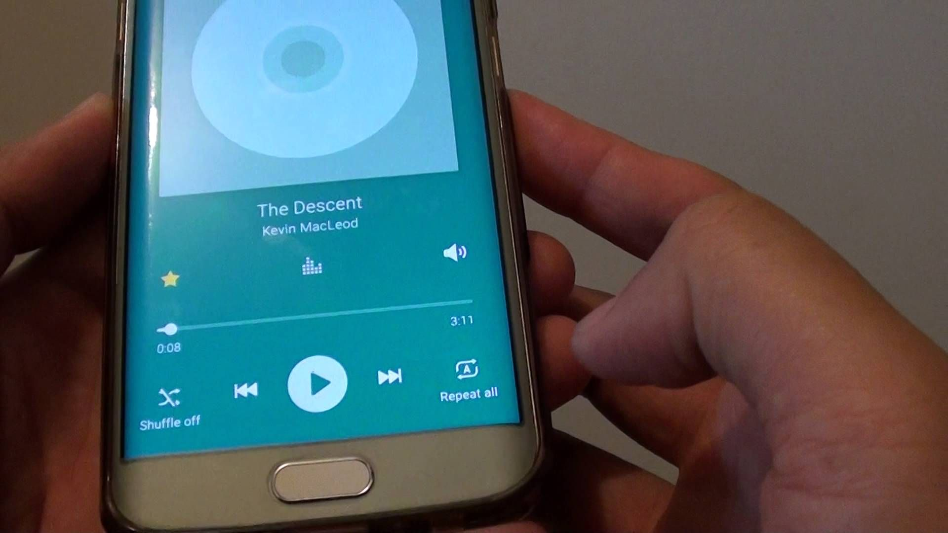 Samsung Galaxy S6 Edge How to Set Music Player to Repeat Songs