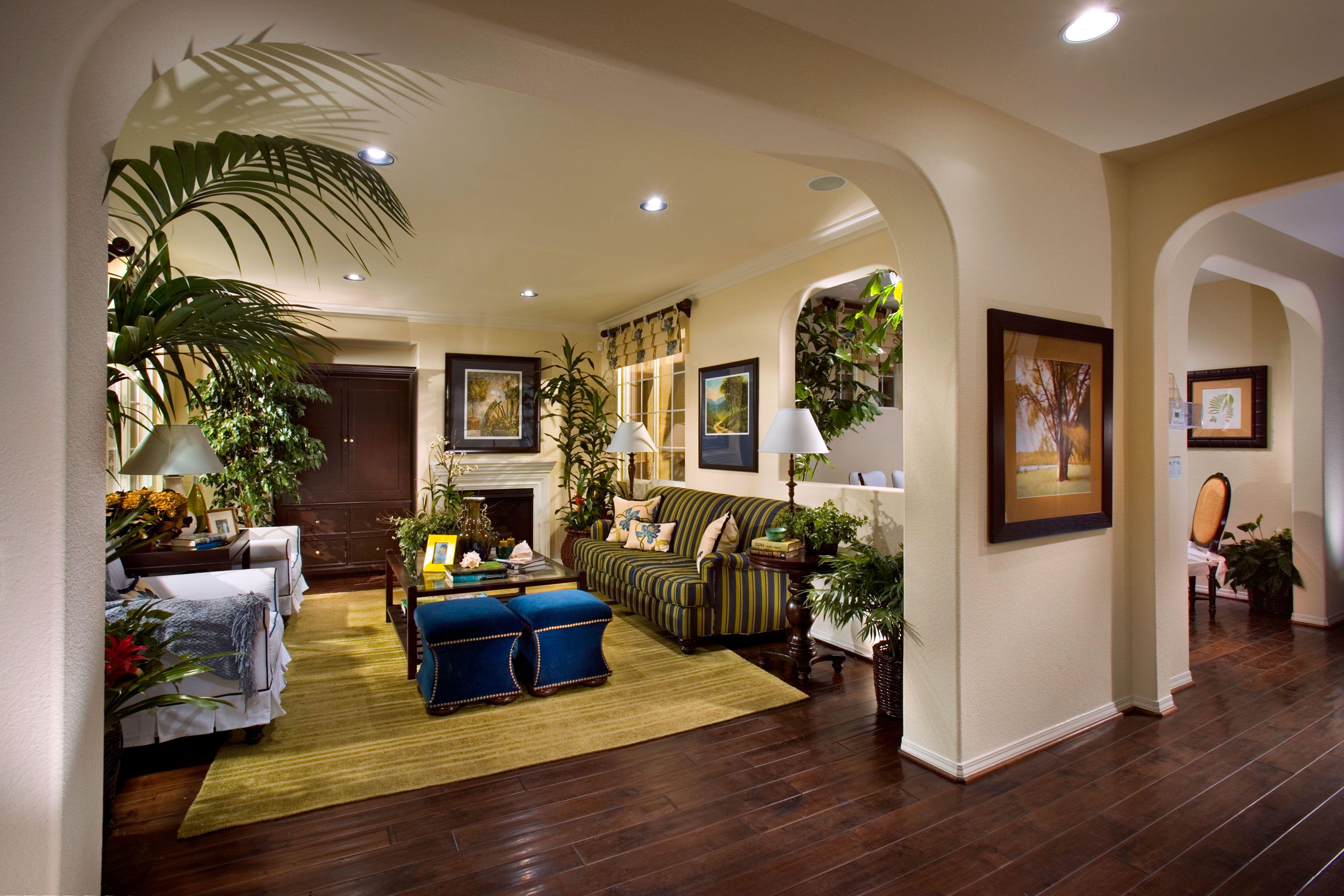 wha single family home | interior design - living room | celedon