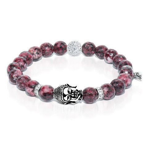 Third Eye - Mulberry Agate Buddha Charm Bracelet - Confidence|Life|Meditation – Joseph Nogucci