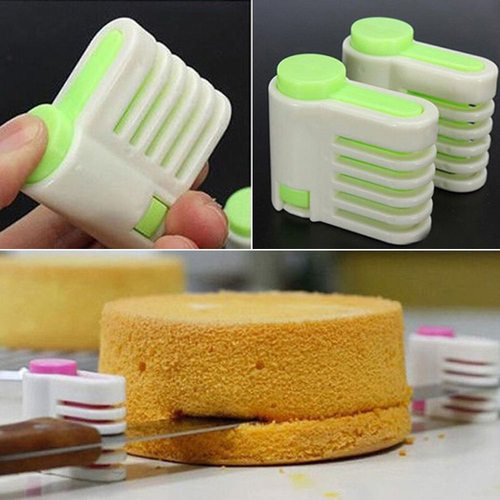 1 Pair Cake Bread Cutter New Adjustable Kitchen Accessories Cutting Fixator Tool