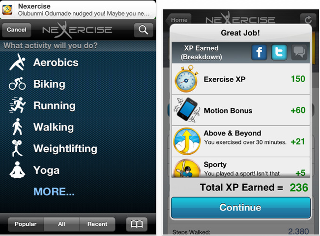 Reviewed this great new app Nexercise. I used it along