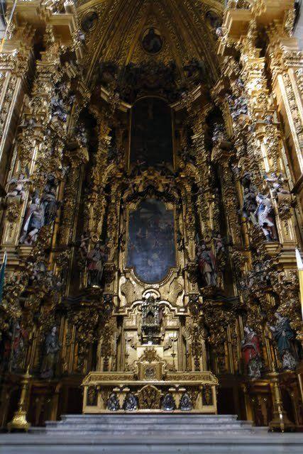Arte barroco en México. Catedral de México. Este retablo