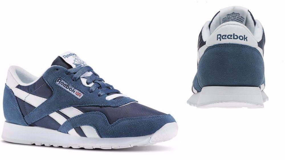 8fb1f0673c6ce Men s Reebok CLASSIC NYLON Brave Blue   White BD4902  Reebok  BD4902