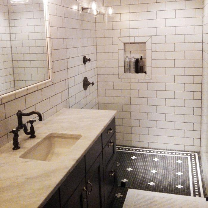 Vintage Tile Shower Designs Remodeling Your Washroom Using Tile Shower Designs Interior D Black And White Tiles Kitchen Design Modern White Retro Bathrooms