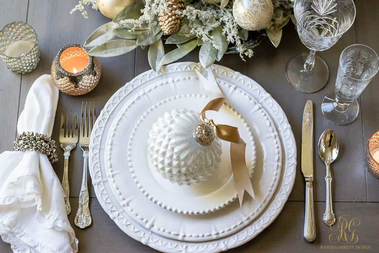 How To Easy Elegant New Years Or Christmas Table Place Setting With Silver Bells