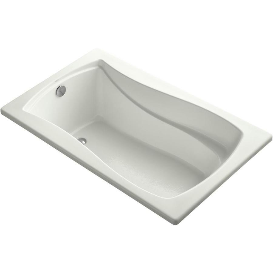Kohler Mariposa 36 In W X 60 In L Dune Acrylic Rectangular Left Hand Drain K 1242 Ny In 2020 Soaking Bathtubs Drop In Bathtub Bathtub