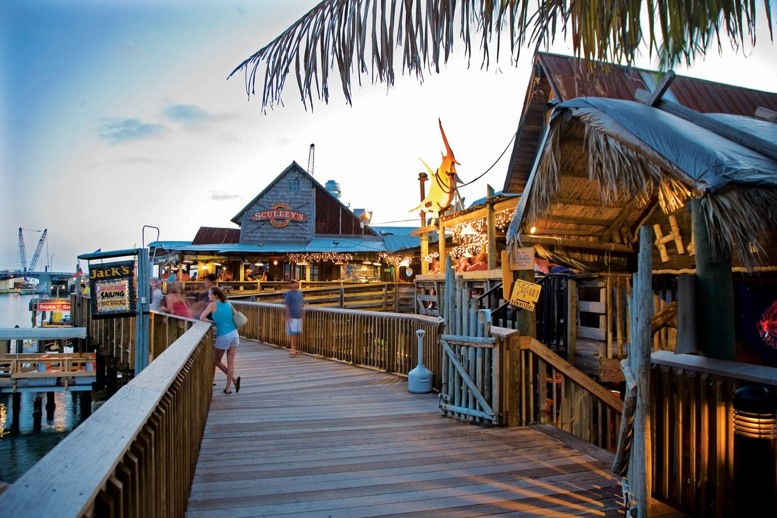 Boardwalk at john 39 s pass site of the annual seafood for Fishing treasure island florida