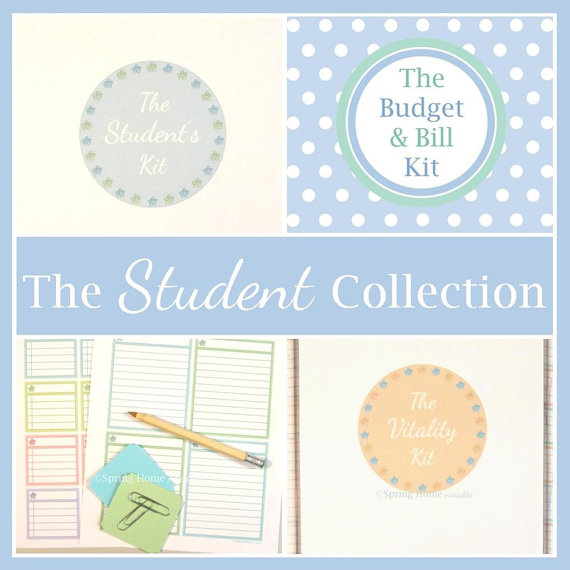 THE STUDENT COLLECTION, printable student planner, calendar, college - college organizer