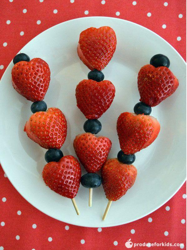 Strawberry Valentine S Day Skewers Recipe Healthy Valentines Day
