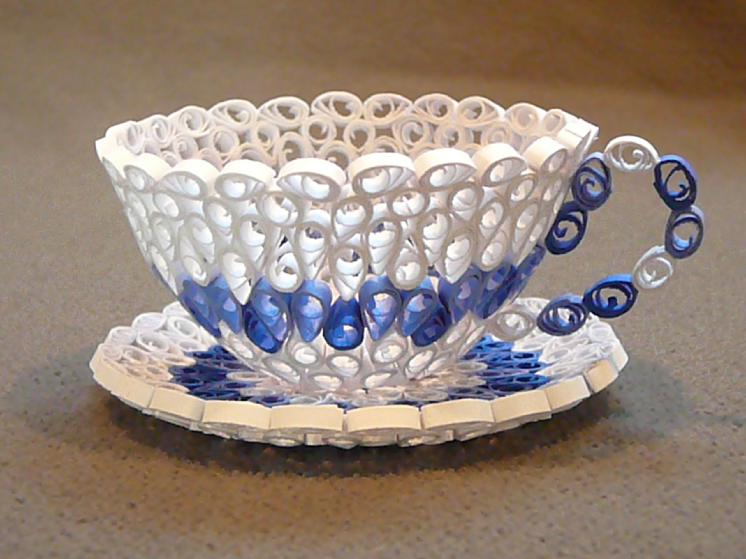 Paper Quilled Cup & Saucer. Quilling paper craft