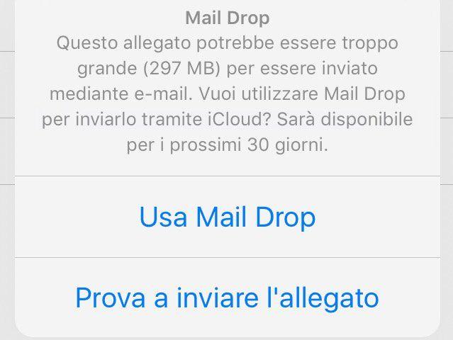 Mail AirDrop su iOS ecco come mandare allegati pesanti (ma attenti al consumo dati)