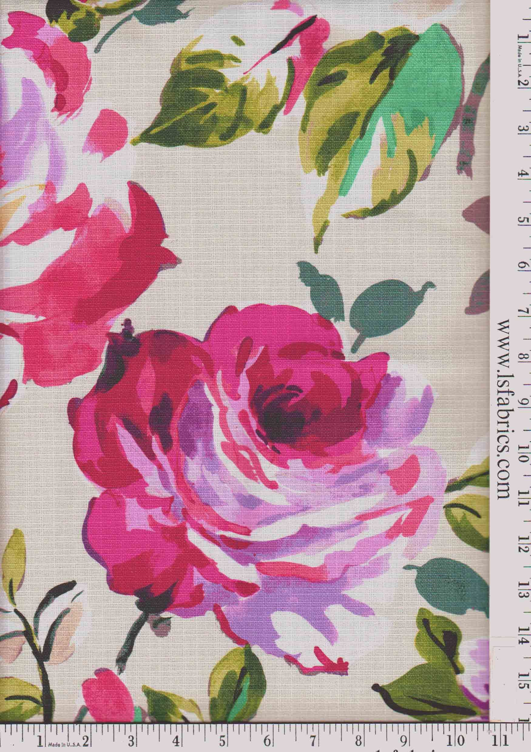 Neon Floral Drapery Wallpapers Fabric Floral Upholstery