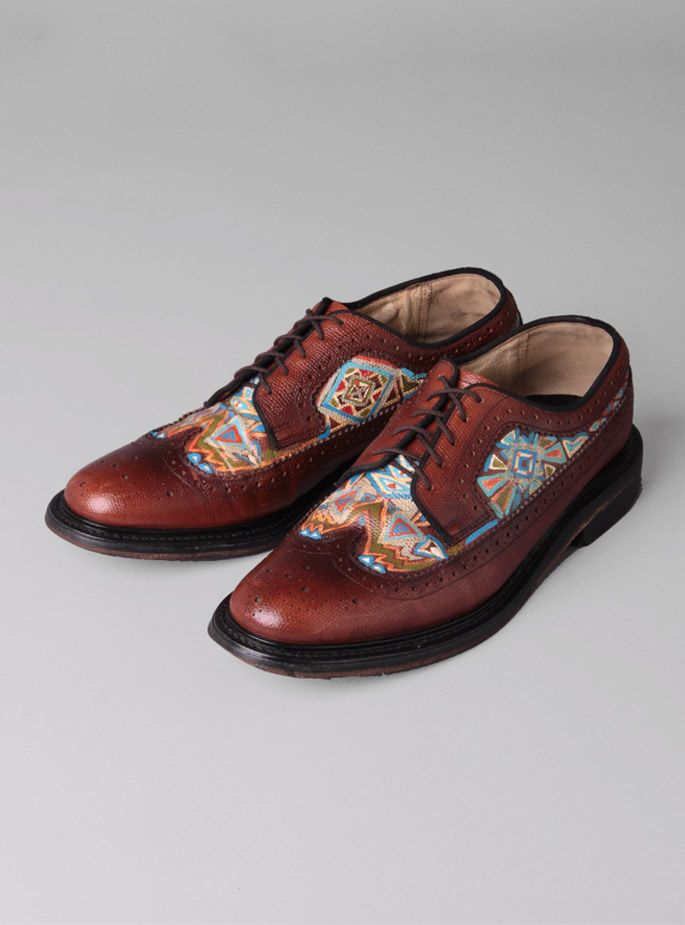 Couverture and The Garbstore - Mens - Scout Original - Hand Painted Vintage Wingtip Shoe