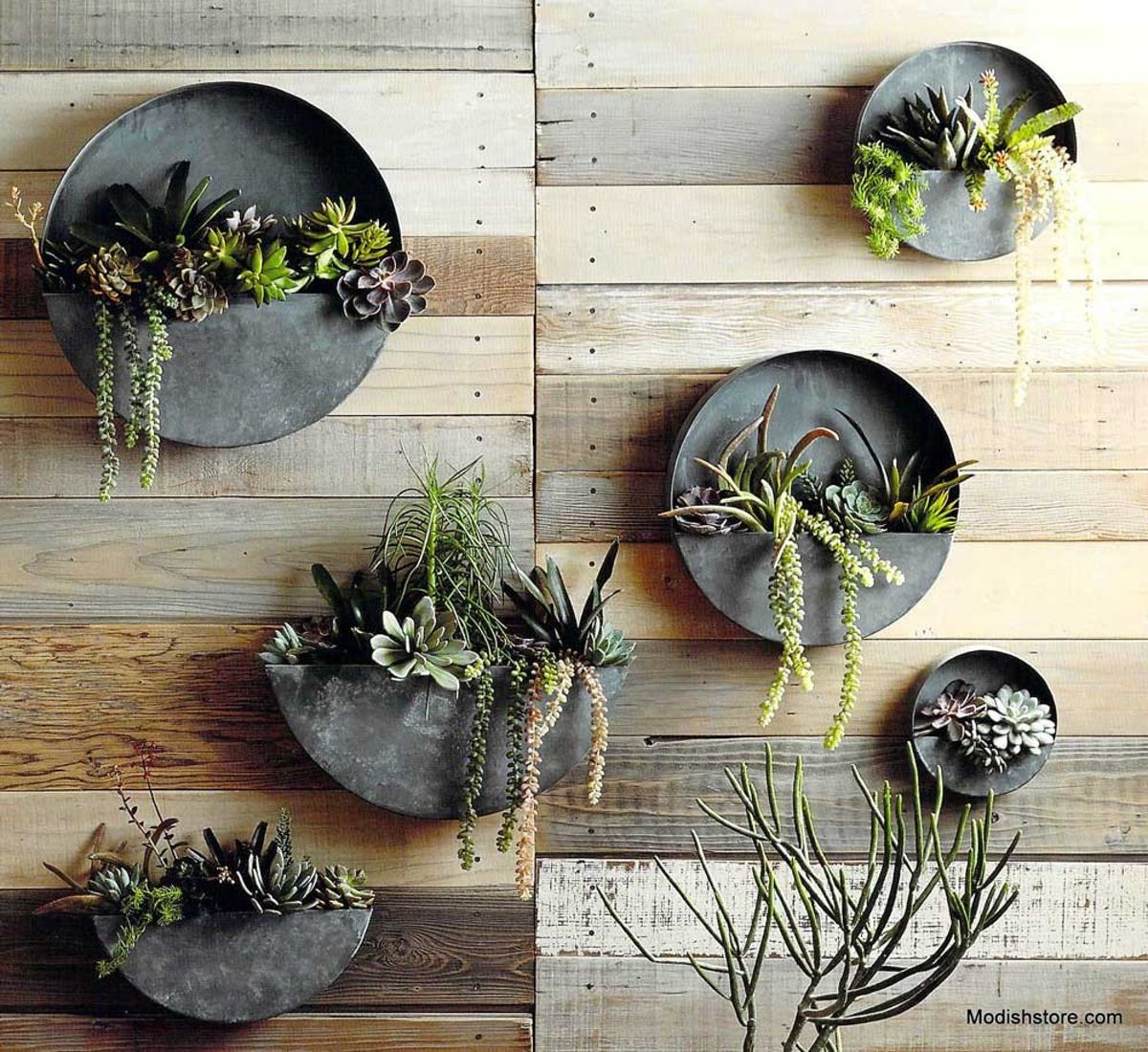 Roost Orbea Zinc Circle Half Planters